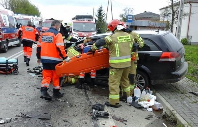 Groźny wypadek w Mirczu