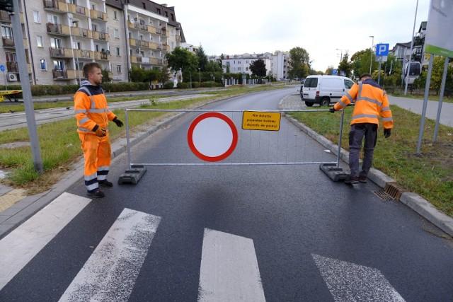 Dziś drogowcy zamknęli fragment ulicy Długiej od Szosy Chełmińskiej do Mohna
