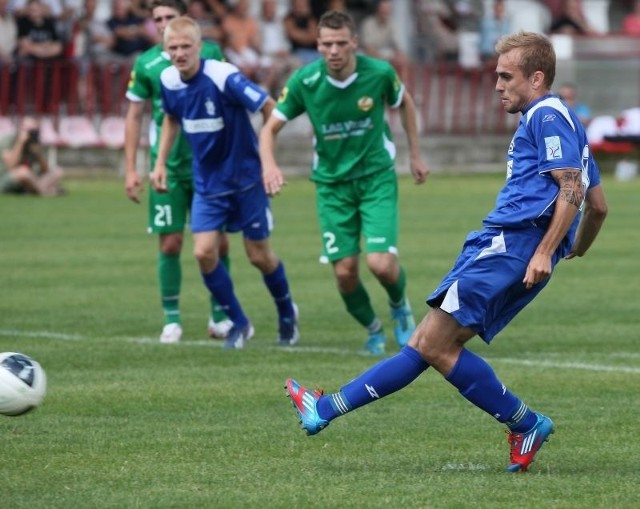 Olaf Okoński zdobył drugiego gola w zimowych sparingach ŁKS.
