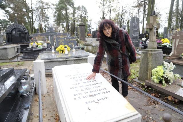 Naszym obowiązkiem jest ratowanie nekropolii, jej nagrobków  - mówi Elżbieta Kozłowska-Świątkowska z Międzynarodowego Stowarzyszenia Białostoczan