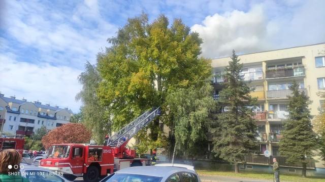 Do gaszenia pożaru na ul. Wysłouchów zostało oddelegowanych sześć jednostek straży pożarnej
