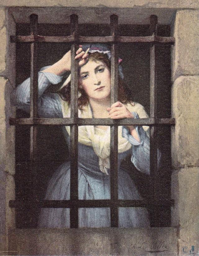 Charlotte Corday, morderczyni Marata, na obrazie Charles'a Louis'a Müllera.