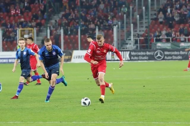 Napastnik Daniel Świderski wykorzystał swoją szansę w meczu ze Skrą