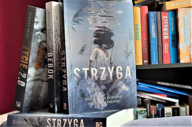 """""""Strzyga"""" (Wydawnictwo Vectra 2021) to najnowsza powieść zielonogórskiej pisarki Aldony Reich (""""Bebok"""", """"Życie 2.0"""", """"Tylko dobrzy ludzie zostają"""")"""