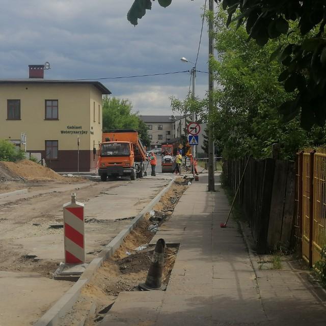 Trwa kompleksowa przebudowa ulicy Mazowieckiej w Golubiu-Dobrzyniu