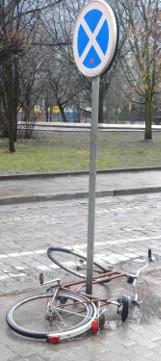 W Głogowie policjanci otrzymali zgłoszenie o zderzeniu... dwóch rowerzystów