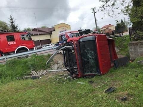 Na miejscu wypadku w Gowarczowie