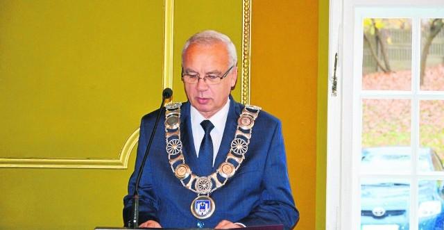 Ryszard Sylka, burmistrz Bytowa.
