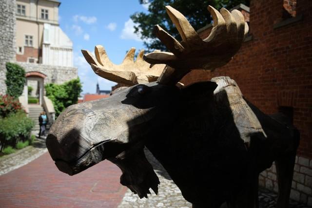 Rzeźby zwierząt autorstwa Jana Wilkonia stanęły w królewskich ogrodach na Wawelu