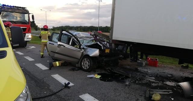 Wypadek koło Reblinka
