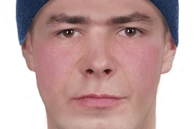 Portret pamięciowy poszukiwanego mężczyzny.