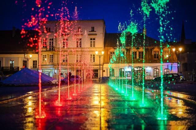 Próba fontann na Stary Rynku w Częstochowie
