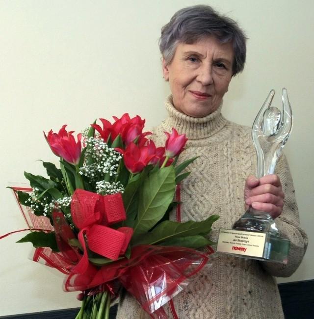 Magdalena Platowska-Strzelczyk, żona trenera Jana Strzelczyka, nie ukrywała radości z nagrody przyznanej jej mężowi.