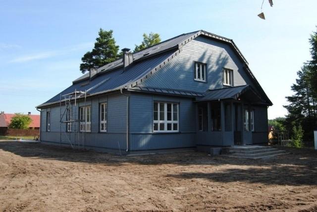Sokole - dom ludowy po remoncie