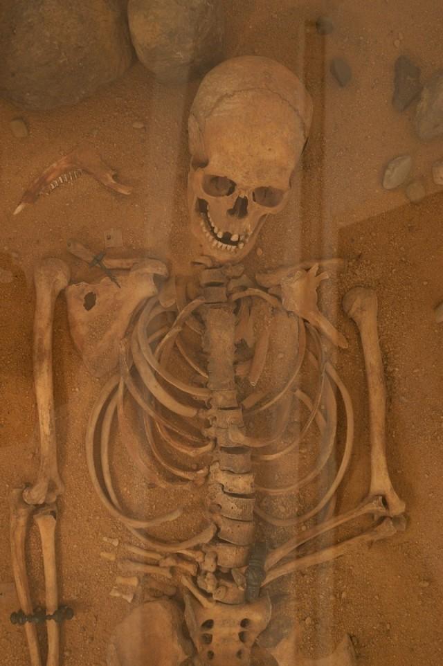 Wszędzie znajdowały się szkielety ofiar. Obok niektórych groty strzał