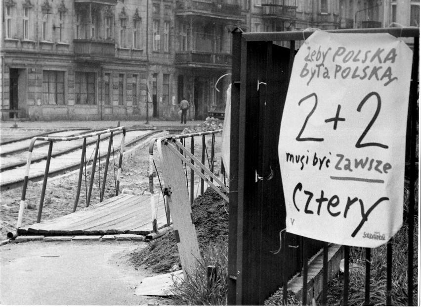 Wrocław 04-06-1989. Uliczny plakat wyborczy fot. tadeusz...
