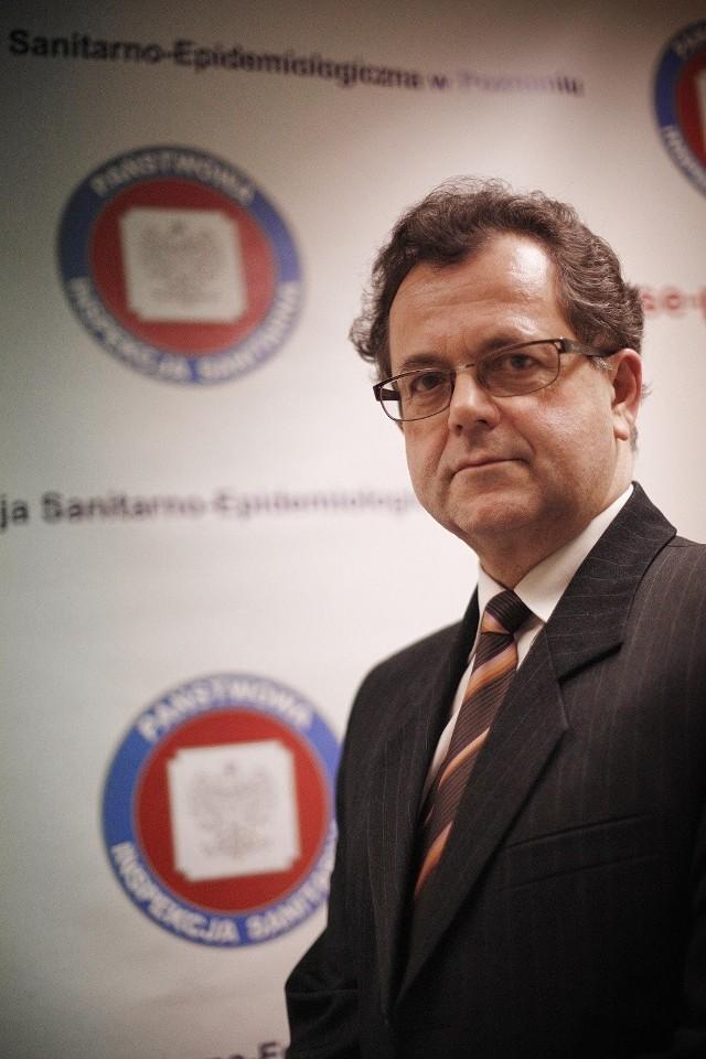 Andrzej Trybusz, dyrektor sanepidu w Wielkopolsce.