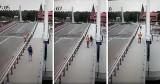 Mężczyzna próbował... przeskoczyć most w Gdańsku Sobieszewie. Nic nie robił sobie ze szlabanu i czerwonego światła. Było o krok od tragedii