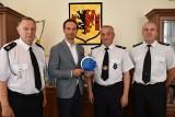 Rypińscy strażacy podziękowali burmistrzowi za współpracę