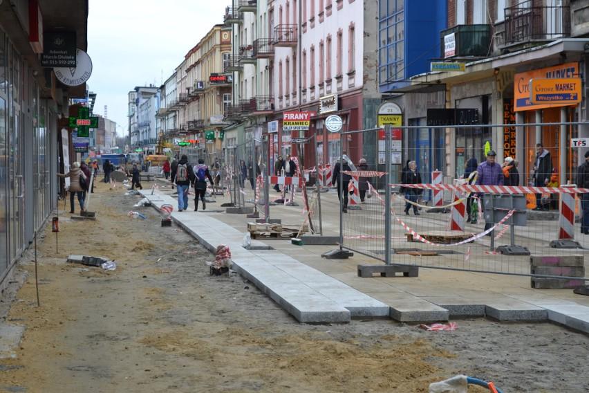 Płyty Granitowe Na Ulicy Modrzejowskiej W Sosnowcu Do