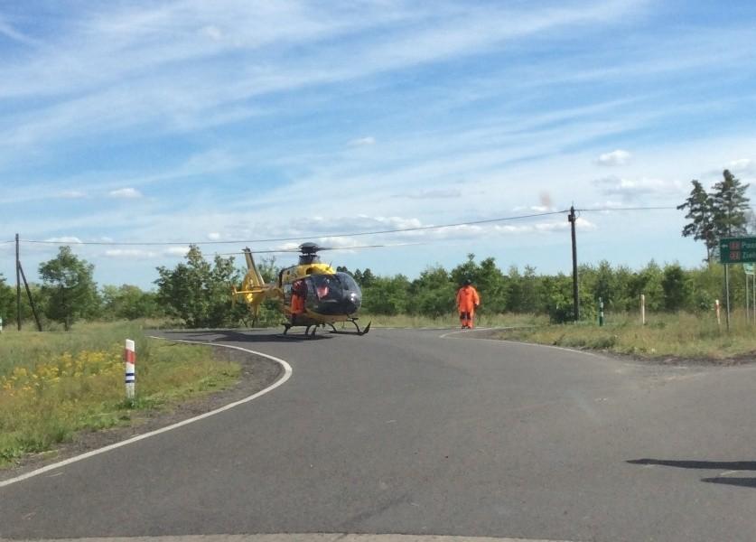 Wypadek na drodze Kargowa - Chwalim. Cztery osoby zostały ranne
