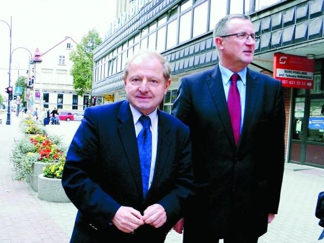 Tadeusz Iwiński (od lewej) i Jerzy Czepułkowski