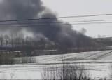 Ołpiny. Wielki pożar hali produkcyjnej obróbki drewna pod Tarnowem. W akcji kilkudziesięciu strażaków [ZDJĘCIA]