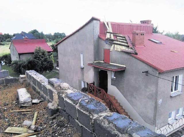 Wichura uszkodziła dom w Chełmku