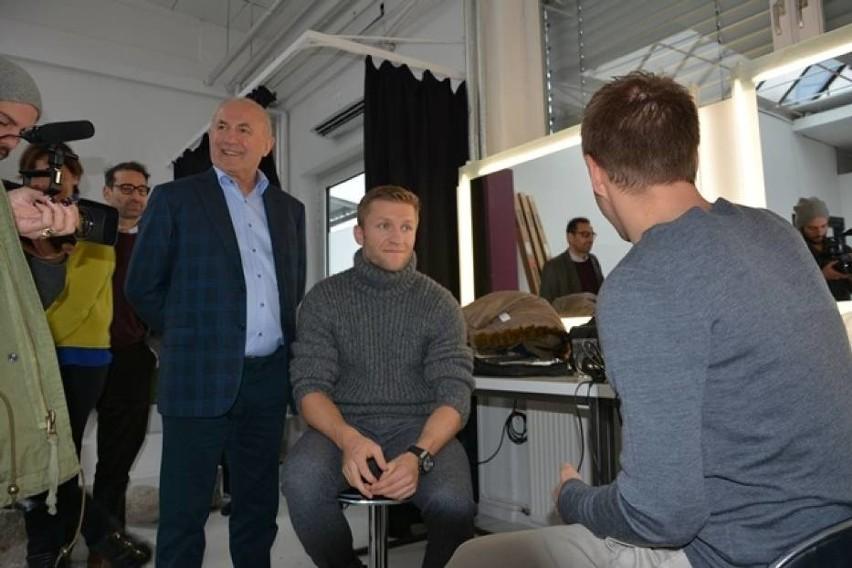 Jakub Błaszczykowski i szef firmy Drutex, Leszek Gierszewski