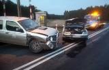 Zderzenie trzech samochodów koło Nowogrodu Bobrzańskiego. Na szczęście to tylko kolizja