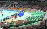 Elewacja Spodka jest nowa. Czas na 6400 niebieskich krzesełek