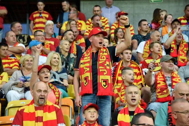 Zdjęcia z trybun na meczu Jagiellonia Białystok - FK Gabala. Gorący doping niestety nie pomógł żółto-czerwonym wygrać z Azerami na własnym stadionie. Znajdziecie się na zdjęciach?