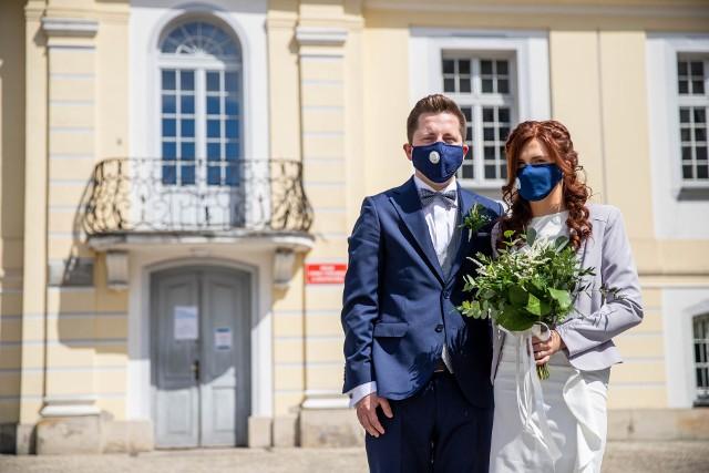 Ewelina i Przemysław Wysoccy wzięli ślub w Pałacyku Gościnnym w Białymstoku