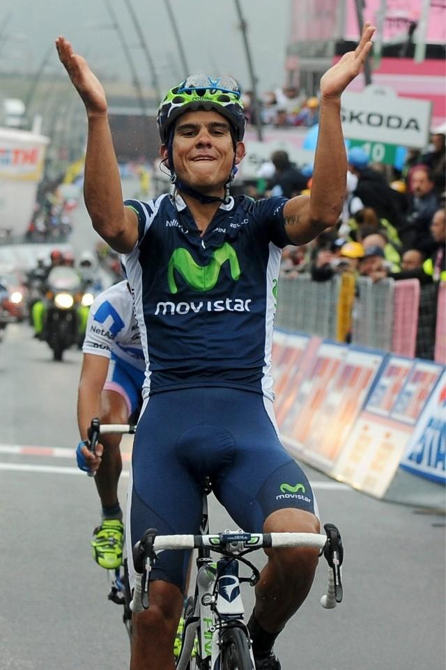 Andrey Amador nowym liderem Giro d'italia. Kolarz ma na swoim koncie zwycięstwo etapowe we włoskim tourze w 2012 r.