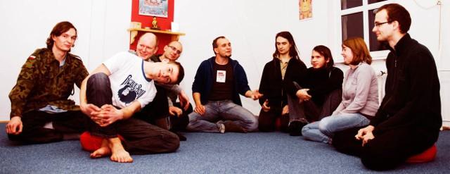 Grupa buddystów z Koszalina.