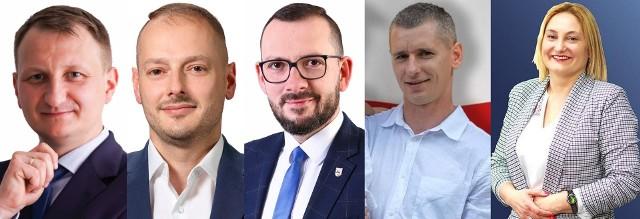 W wyborach na burmistrza Gorzowa Śląskiego wystartowało aż 5 kandydatów, od lewej: Tomasz Olejnik, Rafał Kotarski, Tomasz Stefan, Kamil Surowiec, Agnieszka Bachowska.