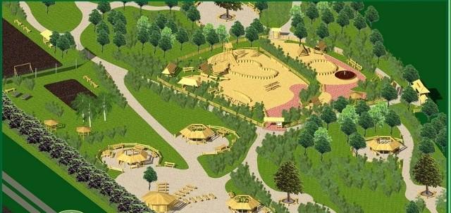Park przy ul. Kutrzeby - wizualizacja