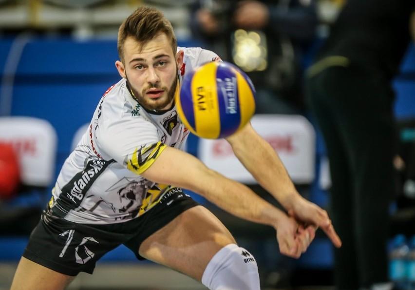 Fabian Majcherski w meczu Trefl Gdańsk - Cuprum Lubin...
