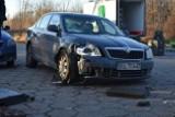Bardzo poważny wypadek na Tuwima w Łodzi! Auto przygniotło pieszego! ZDJĘCIA