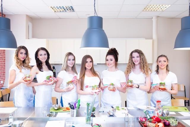 Finalistki w konkursie Miss Polonia Województwa Łódzkiego promują zdrowy tryb życia