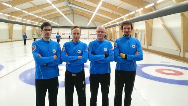 Na zdjęciu zespół TKC Jakubowski. Od lewej: Sebastian Lichy, Mateusz Kulik, Paweł Piotrowicz, Bartosz Jakubowski (skip)