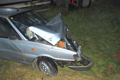 Auto rozbite w Przędzelu.