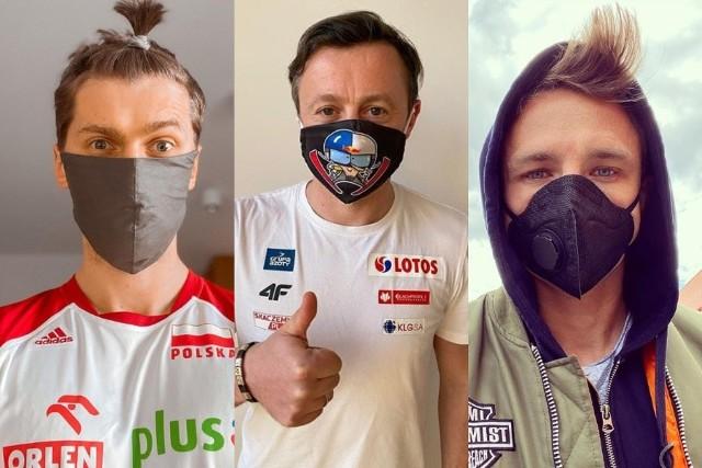 W związku z pandemią koronawirusa od czwartku 16 kwietnia mamy obowiązek zasłaniania ust i nosa w przestrzeni publicznej. Dotyczy to także sportowców, którzy stosują się do nakazu i zachęcają do tego swoich kibiców. Zobacz, jak wyglądają w niespodziewanych okolicznościach. Rozpoznasz ich na ulicy?