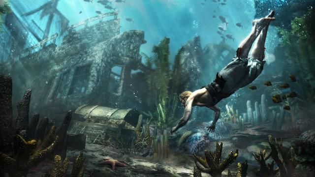 Assassin's Creed IV: Black FlagNurkowanie i poszukiwanie skarbów w zatopionych wrakach w grze Assassin's Creed IV: Black Flag ma być niebezpieczne, ale też bardzo opłacalne.