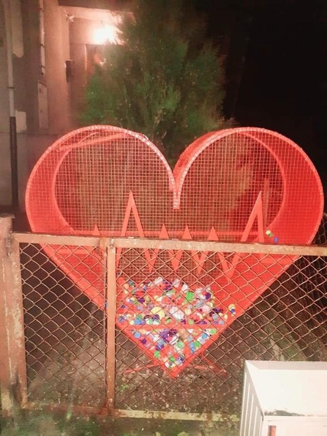 Serce miłości stanęło przy ul. Kosciuszki.