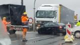 Wypadek na A1! Ciężarówka uderzyła w samochód. Utrudnienia, korki