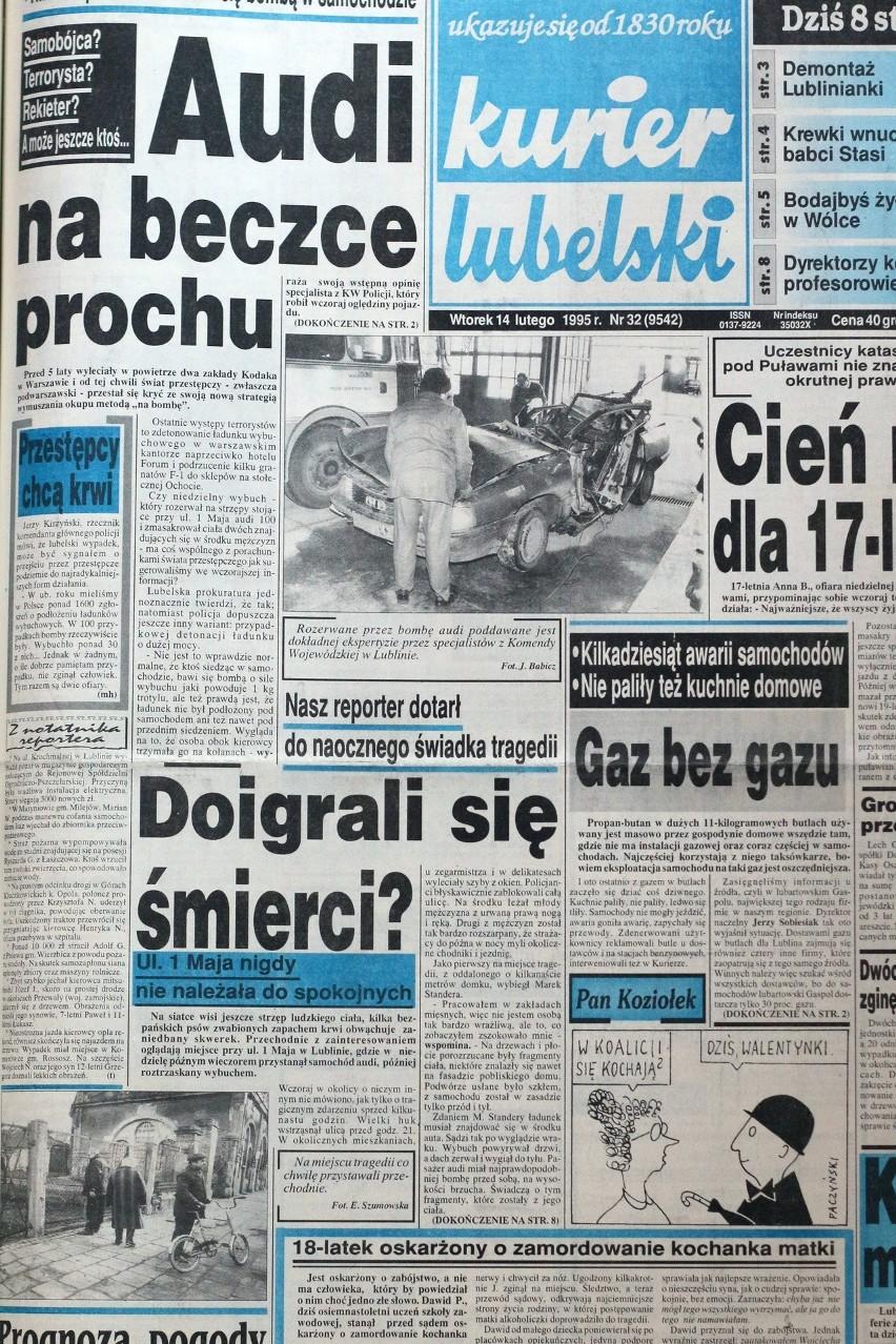 Kurier Lubelski z 1995 roku.