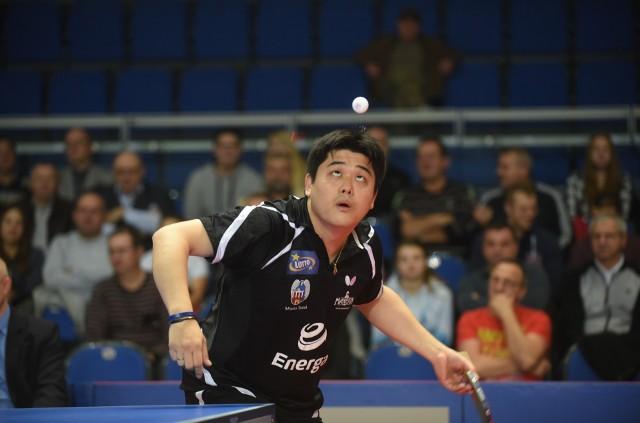 Cazuo Matsumoto w spotkaniu z Unią AZS-em AWFiS-em Gdańsk wygrał seta z Patrykiem Zatówką