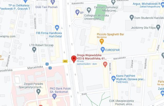 Na skrzyżowaniu ul. Przybyszewskiego i Marcelińskiej w Poznaniu doszło do awarii. Nie działa sygnalizacja świetlna