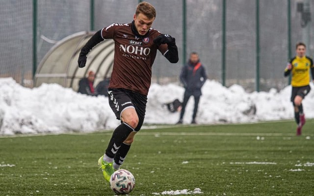 Jakub Górski strzelił swą pierwszą bramkę w barwach Garbarni Kraków